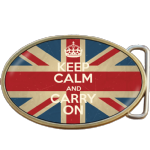 Keep Calm and Carry On Union Jack Belt Buckle. Code A0057